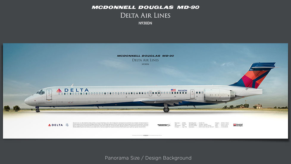McDonnell Douglas MD-90 Delta Air Lines, plane prints, retired pilot gift, aviation posters, airliners prints, aircraft print