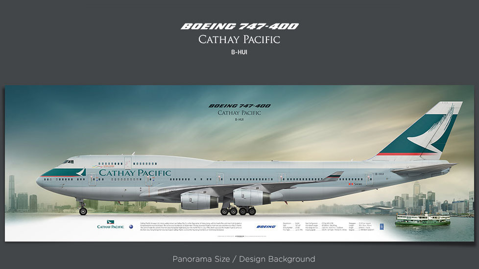 Boeing 747-400 Cathay Pacific, plane prints, retired pilot gift, aviation posters for sale, airliner prints, boeing poster