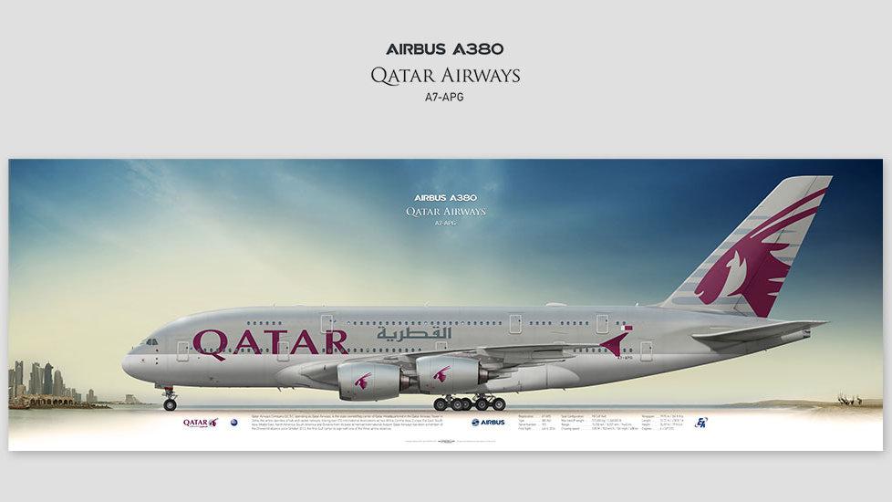 Qatar Airways Airbus A380 A7-APG