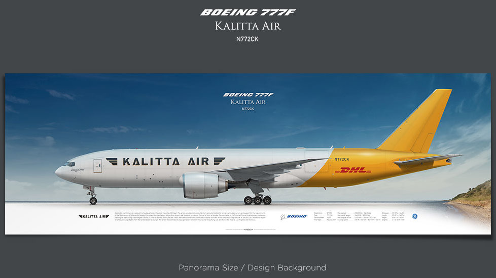 Boeing 777F Kalitta Air, plane prints, retired pilot gift, aviation posters, airliners prints, cargo plane, jetliner