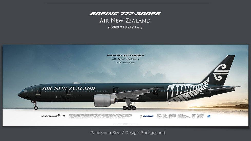 Boeing 737-300ER Air New Zealand, gifts for pilots, aviation prints, aircraft posters, custom posters, retired pilot