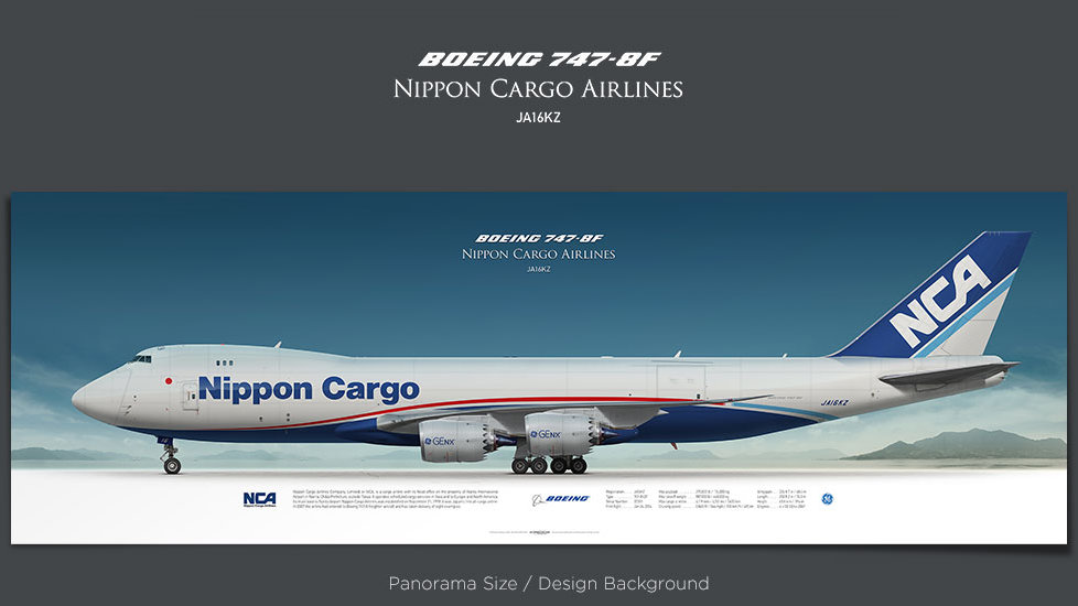 Boeing 747-8f Nippon Cargo Airlines, plane prints, retired pilot gift, aviation posters, cargo plane, jumbo jet, NCA