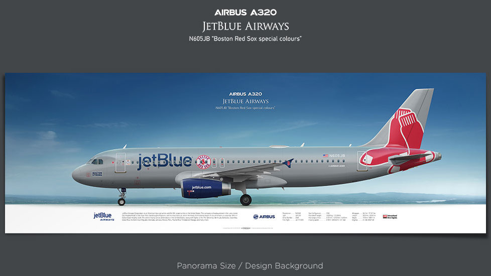 Airbus A320 JetBlue Airways, JBU, plane prints, retired pilot gift, aviation posters, airliners prints, plane image