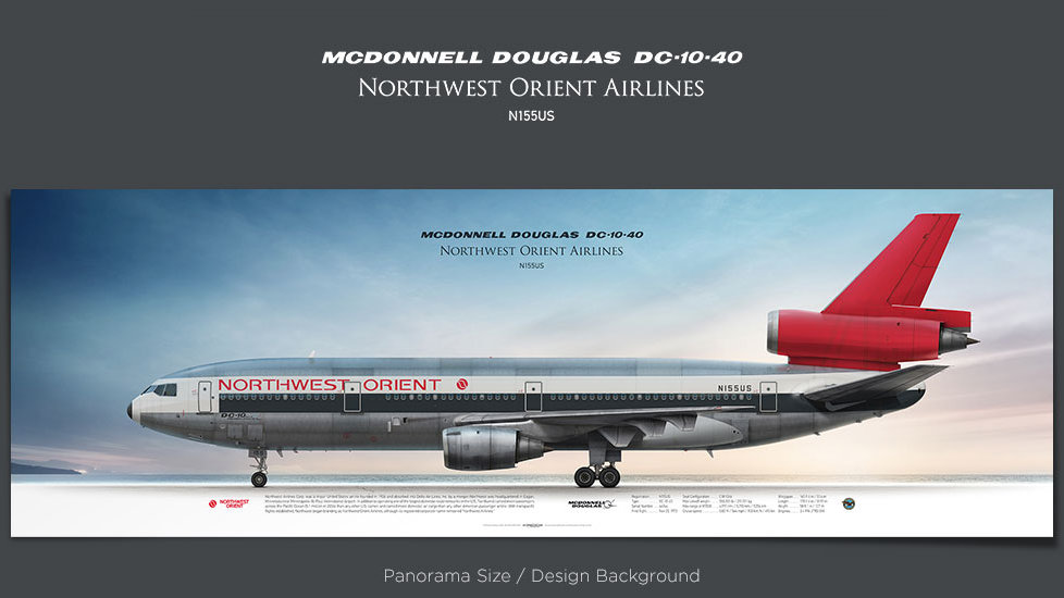 McDonnell Douglas DC-10-40 Northwest Orient Airlines, plane prints, retired pilot gift, aviation posters, vintage airplane