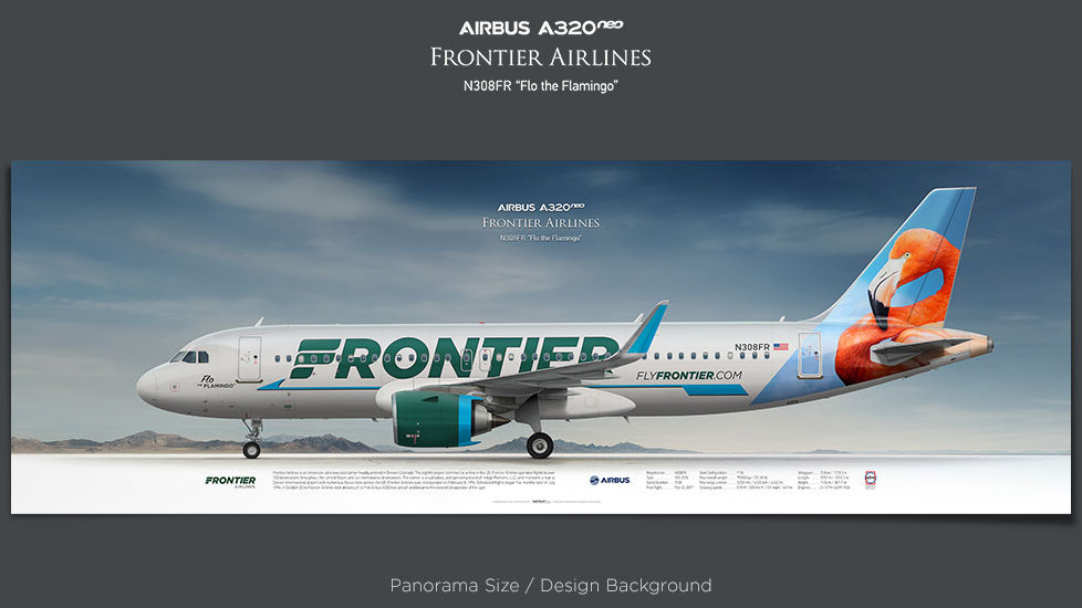 Airbus A320NEO Frontier Airlines, plane prints, retired pilot gift, aviation posters, airliners prints, civil aircraft