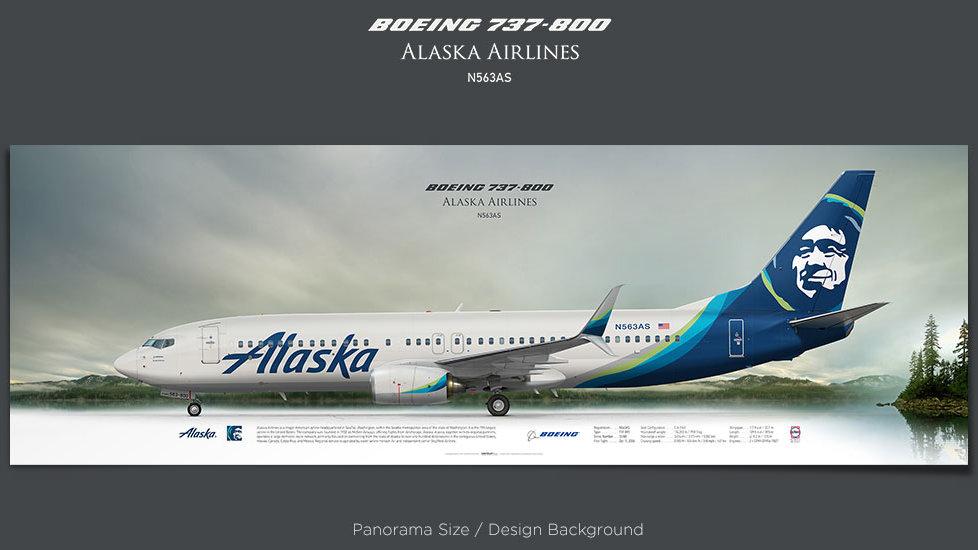 Boeing 737-800 Alaska Airlines, plane prints, retired pilot gift, aviation poster, airliners prints, civil aircraft, jetliner