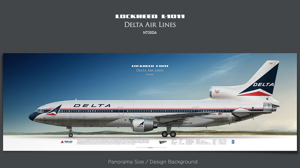 Lockheed L-1011 Delta Air Lines, plane prints, retired pilot gift, aviation posters, airliners prints, vintage aircraft, DAL