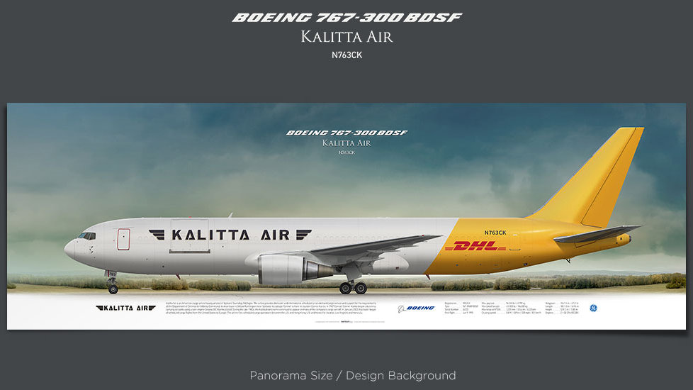 Boeing 767-300 BDSF Kalitta Air, plane prints, retired pilot gift, aviation posters, airliners prints, cargo aircraft