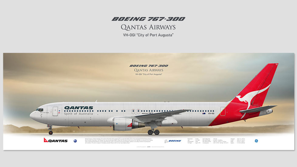 Qantas Airways Boeing 767-300 VH-OGI