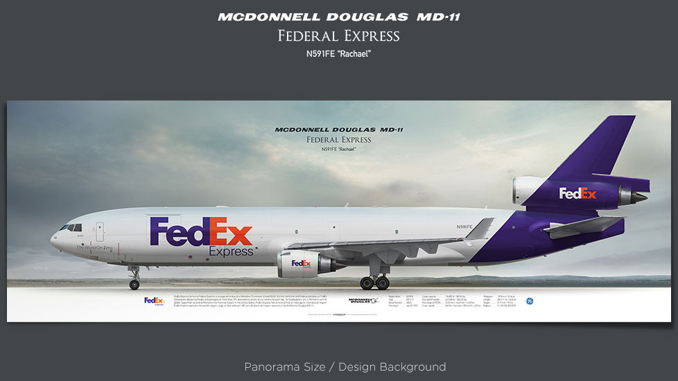 Mcdonnell Douglas MD-11 FedEx Express, plane prints, retired pilot gift, aviation posters, airliners prints, cargo plane