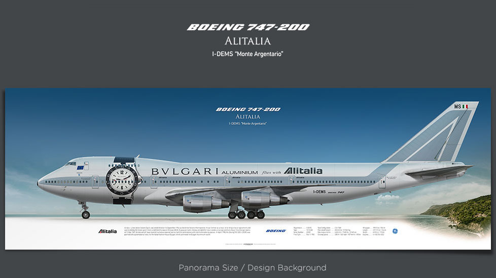Boeing 747-200 Alitalia, plane prints, retired pilot gift, aviation posters for sale, vintage aircraft prints, retro airplane