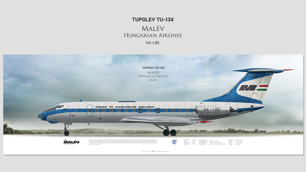 Malév Tupolev Tu-134 HA-LBE