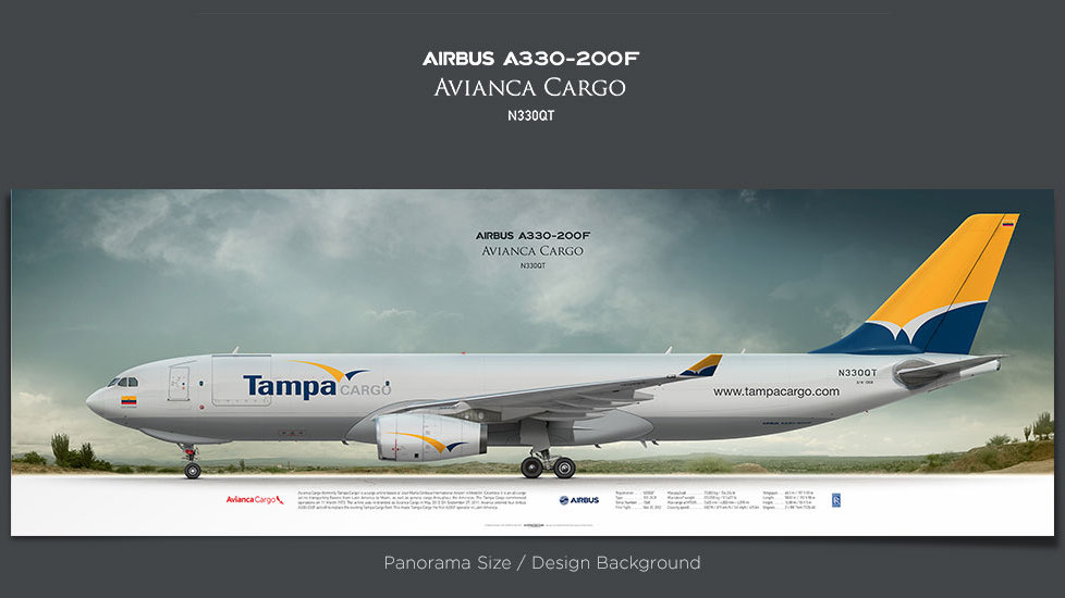 Airbus A330-200F Avianca Cargo, gifts for pilots, aviation prints, aircraft posters, custom posters, retired pilot, tampa