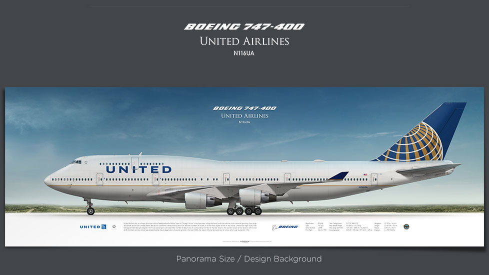 United Airlines Boeing 747-400 N116UA