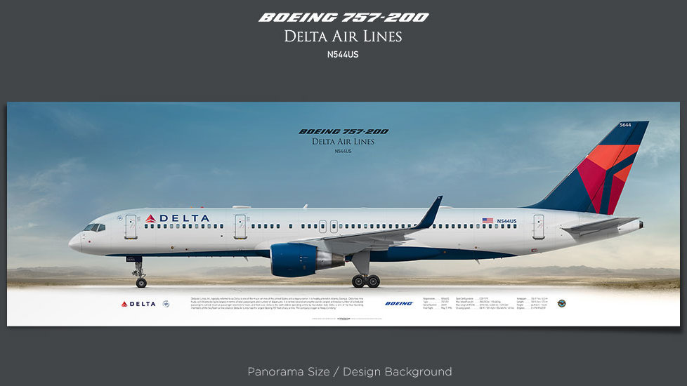 Boeing 757-200 Delta Air Lines, plane prints, retired pilot gift, aviation posters, airliners prints, aircraft print, DAL