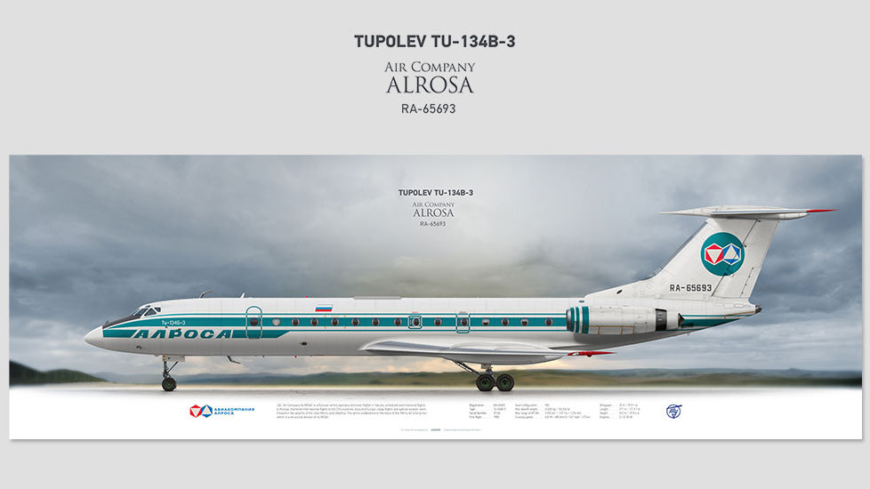 Air Company ALROSA Tupolev Tu-134B-3 RA-65693