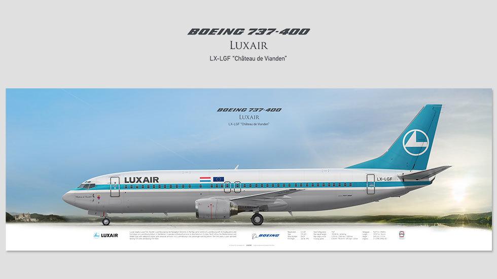 Luxair Boeing 737-400 LX-LGF