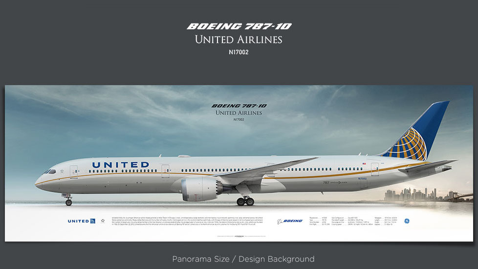 Boeing 787-10 United Airlines, plane prints, retired pilot gift, aviation posters, airliners prints, dreamliner, UAL