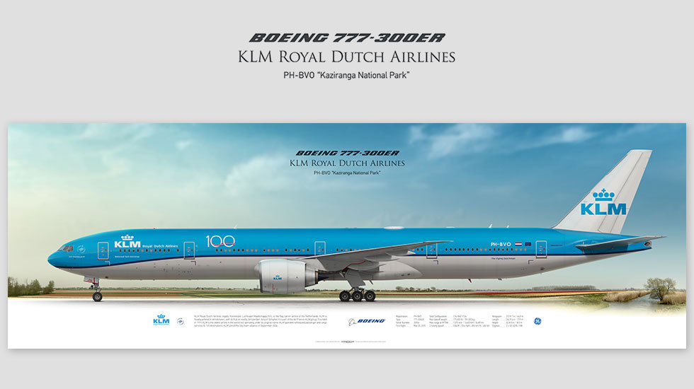 Boeing 777-300ER KLM, gifts for pilots, aviation art prints, aircraft print, custom posters, plane picture, retired pilot
