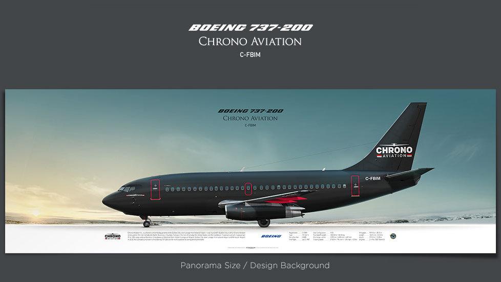 Boeing 737-200 Chrono Aviation, plane prints, airplane poster, retired pilot gift, airline prints, jetliner prints