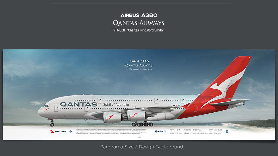 Airbus A380 Qantas Airways, gifts for pilots, aviation prints, aircraft posters, custom posters, retired pilot, airbus poster