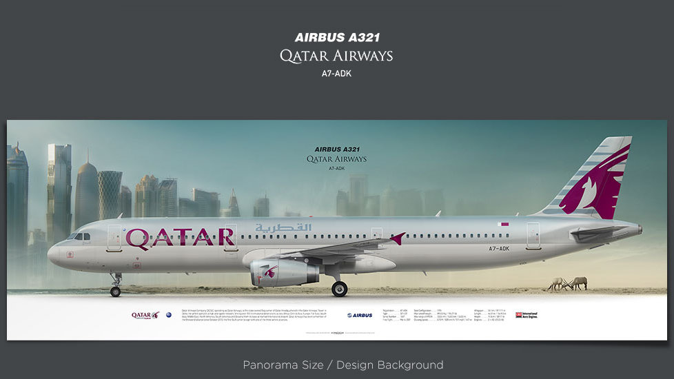 Airbus A321 Qatar Airways, plane prints, retired pilot gift, aviation posters, airliners prints, regional jet, QTR