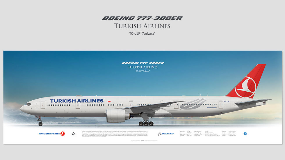 Turkish Airlines Boeing 777-300ER TC-JJP