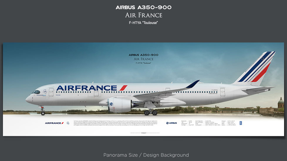 Airbus A350-900 Air France, XWB, plane prints, retired pilot gift, aviation posters, airliners prints, AFR, civil aircraft