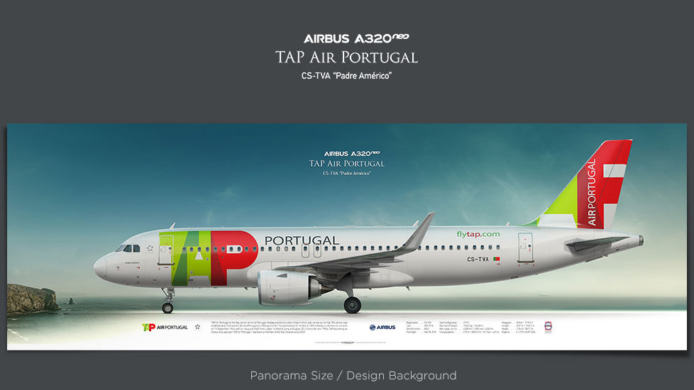 Airbus A320neo TAP Air Portugal, plane prints, retired pilot gift, aviation posters, airliners prints, jetliner
