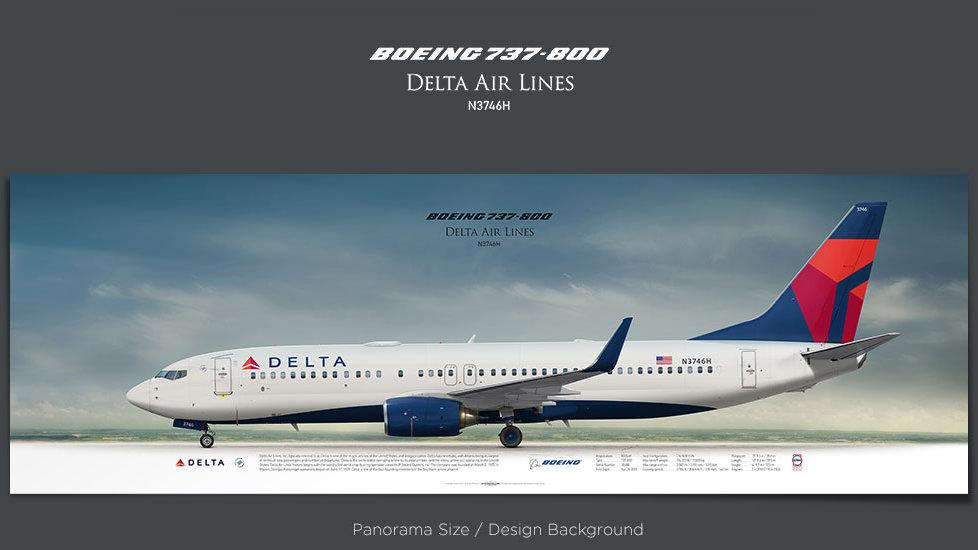 Boeing 737-800 Delta Air Lines, plane prints, retired pilot gift, aviation posters, jetliner, airliner prints, DAL