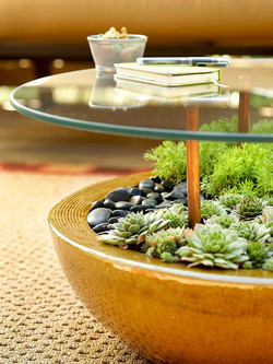glass table outdoors
