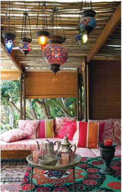 fun outdoor space with color