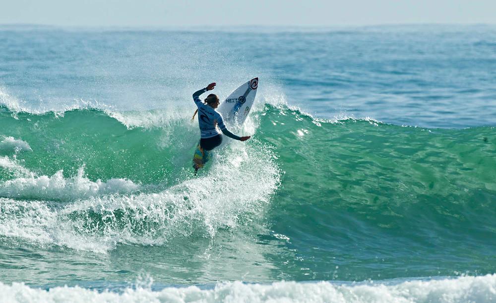 Ella photo by Corey Scott NZ surfing mag