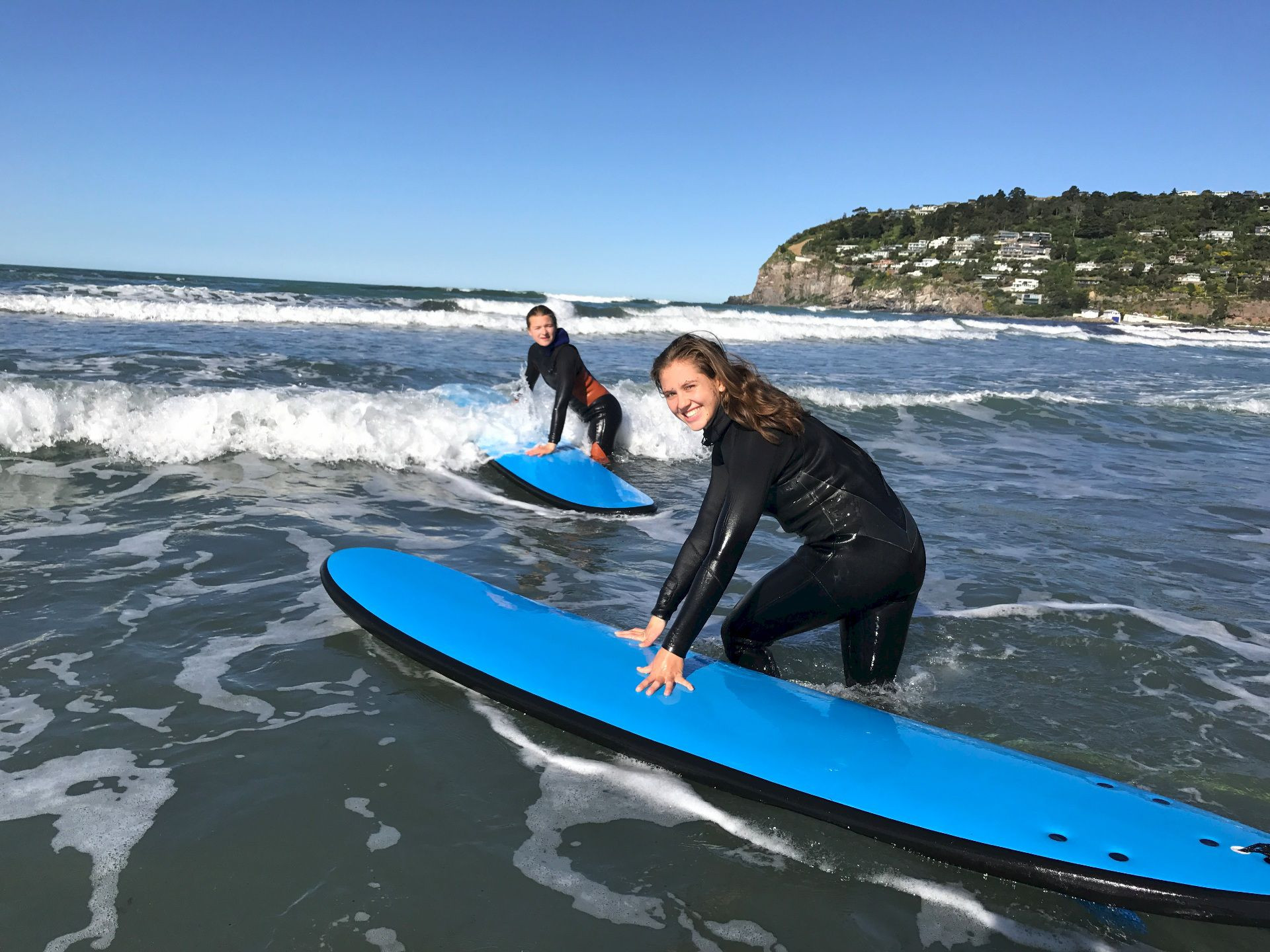 Adult group surf lesson