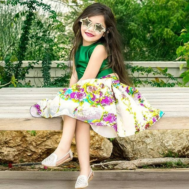 Baby Suzi Khan modelling for #MasalaChaiDubai ✨ Makeup by Enrica, She's adorable!! _flawlessbeautyby