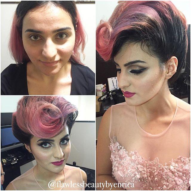Fashion meets creativity! Before & after makeup #makeupbyenrica