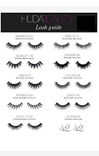 Which classic HudaBeauty lashes are the best to wear?