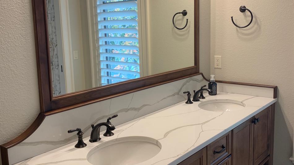 Quartz Bathroom Vanity Top on Oconomoc Lake