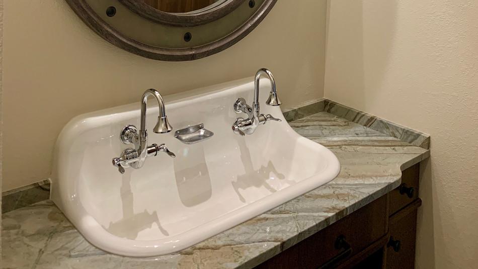 Oconomowoc WI Farm Sink Granite Bathroom Vanity