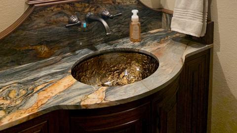 Oconomowoc WI Granite Bathroom Vanity