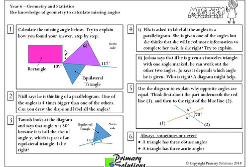 Y6 Mastery Maths - Geometry and Statistics