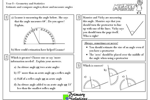 Y5 Mastery Maths - Geometry and Statistics