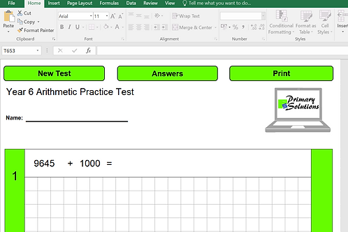 Year 6 Arithmetic Practice Tests