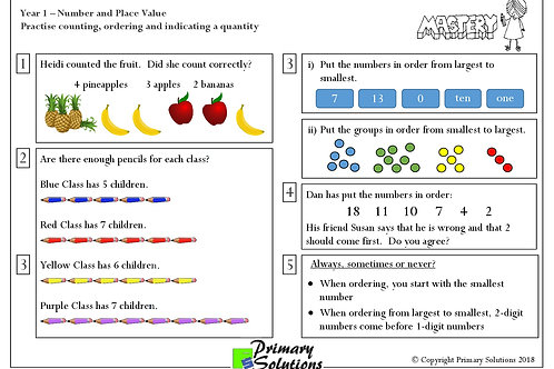 Y1 Mastery Maths - Number and Place Value