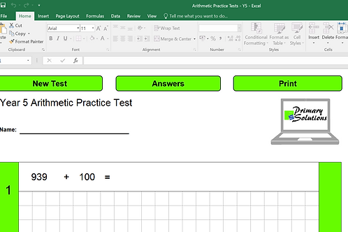 Year 5 Arithmetic Practice Tests