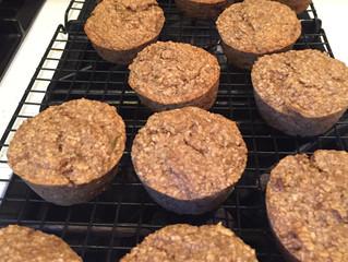 Zucchini Oat Muffins, Gluten Free & Vegan