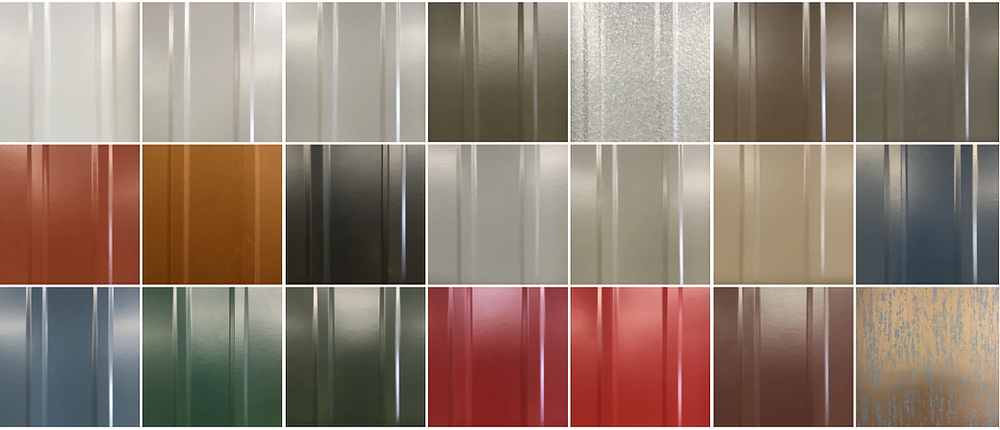 Colors for metal roofing systems like Standing Seam, TuffRib, MasterRib, PBR and Matterhorn Slate, Shake and Tile
