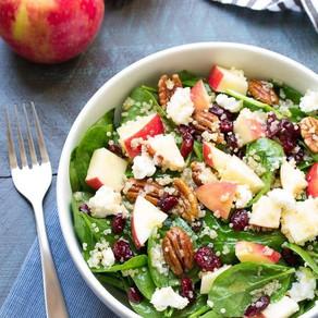 Spinach - Apple - Quinoa Salad