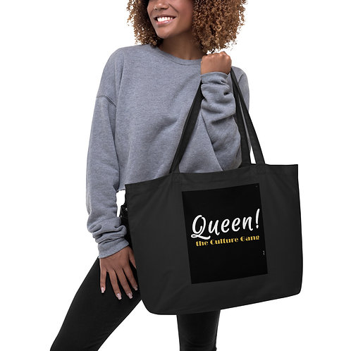 Bad & Bougee 4Real every day QUEEN Large organic tote bag for women