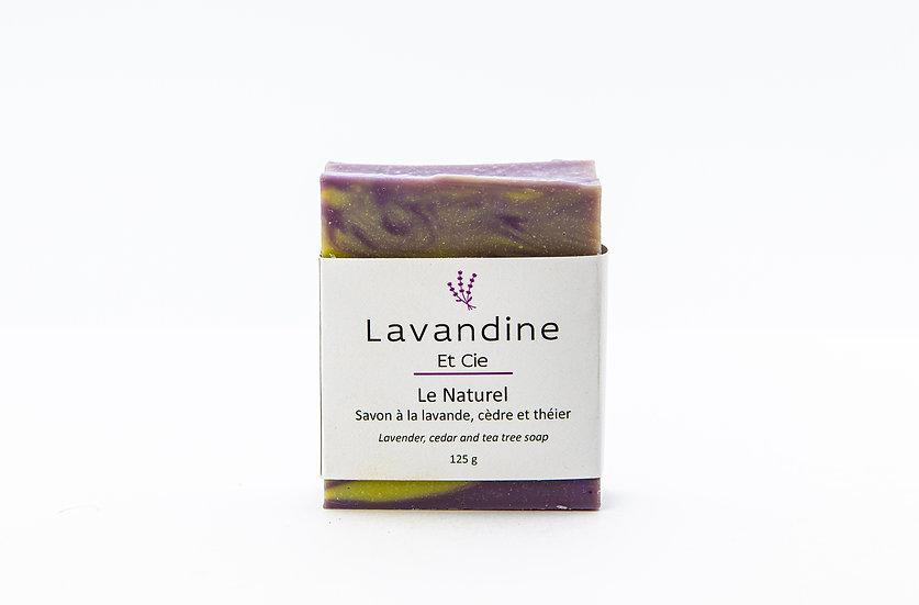 Le Naturel - Savon à la lavande, cèdre et théier